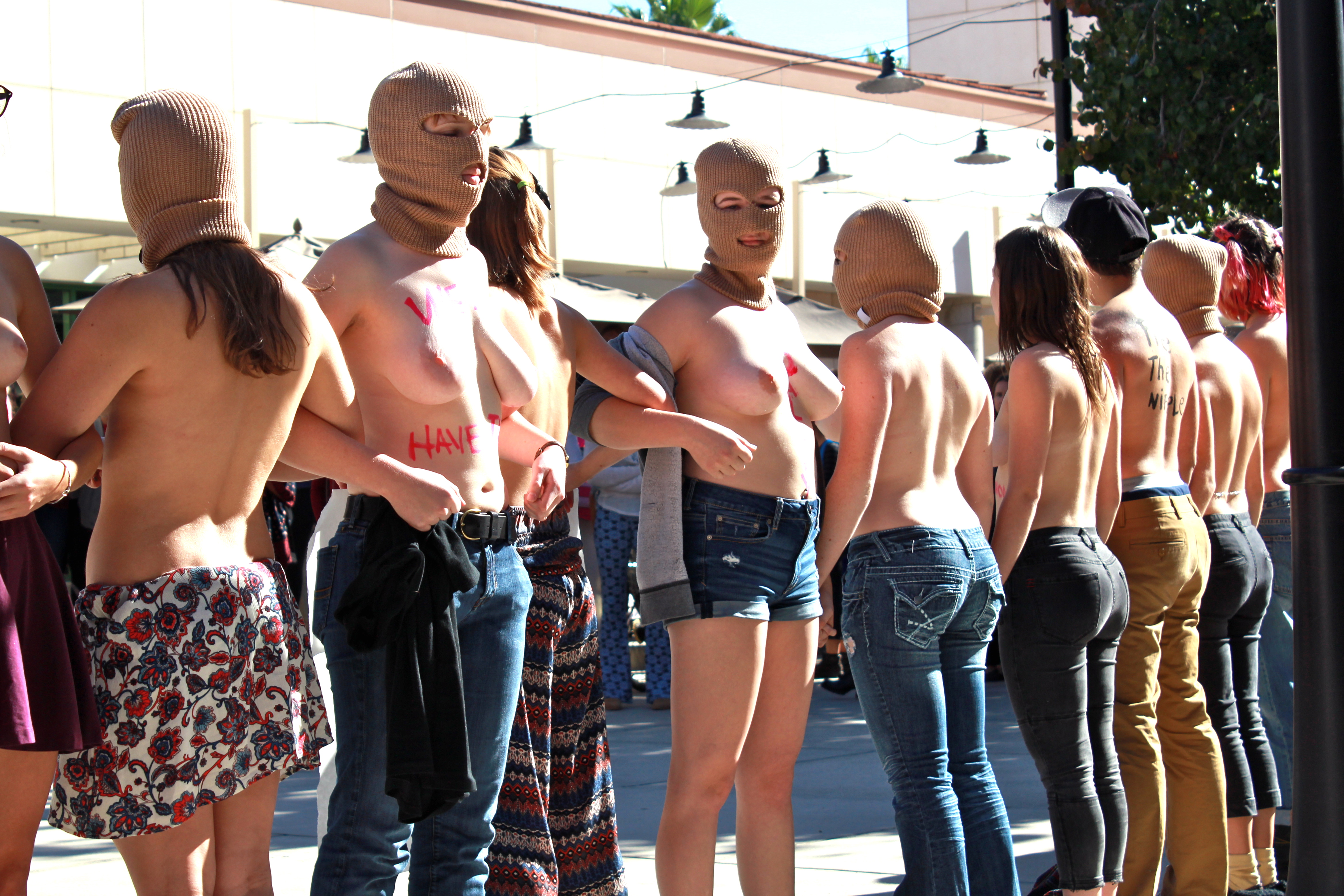 Free The Nipple: Redlands Students Stage Demonstration For