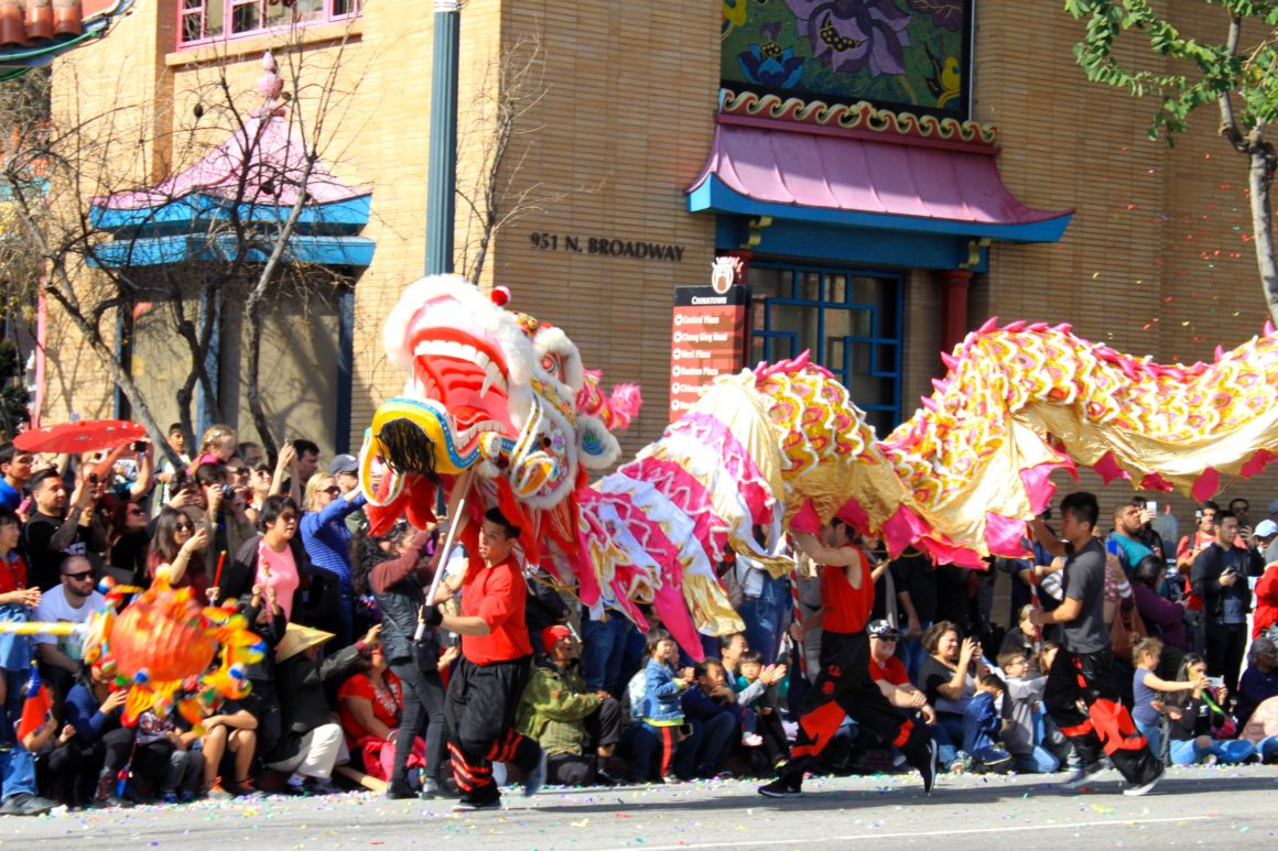 Dragon Dances play a symbolic and interactive role in traditional Chinese New Year celebrations. It is thought that the longer the dragon, the more luck it will bring.