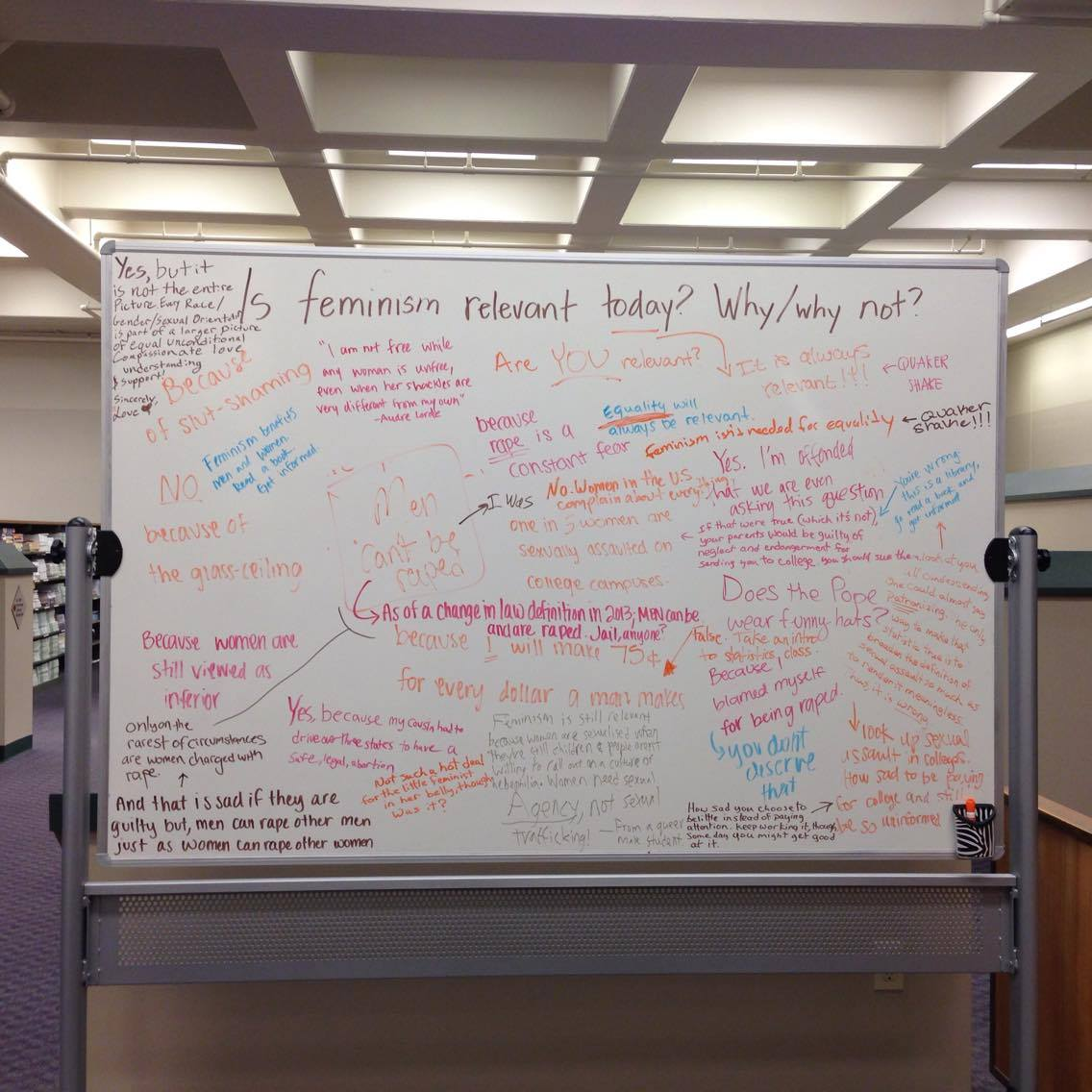 "White Board Asks, ""Is Feminism Relevant?"""