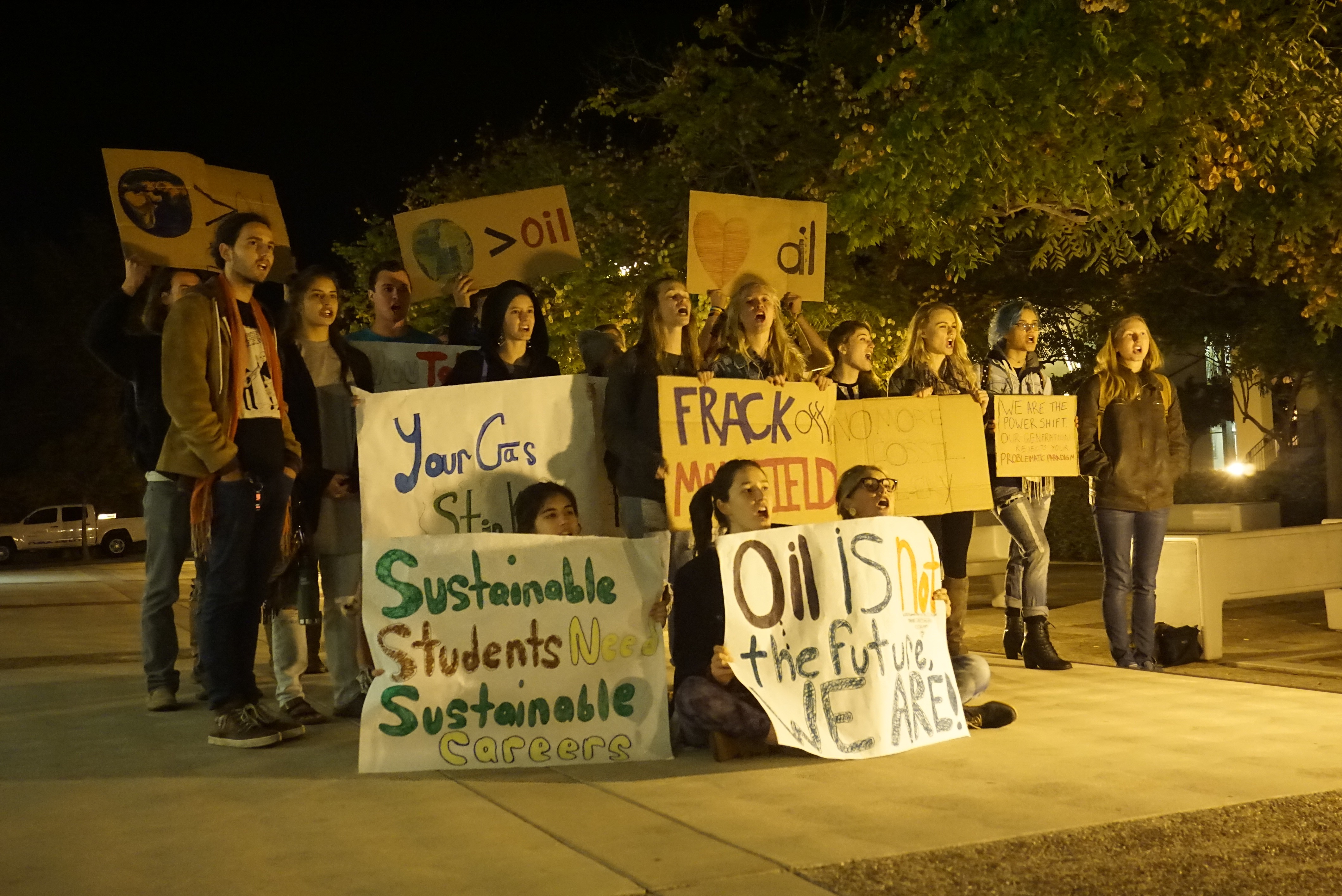 A Student Organizer's Reflection on the Mansfield Oil Protest and Sustainability on Campus