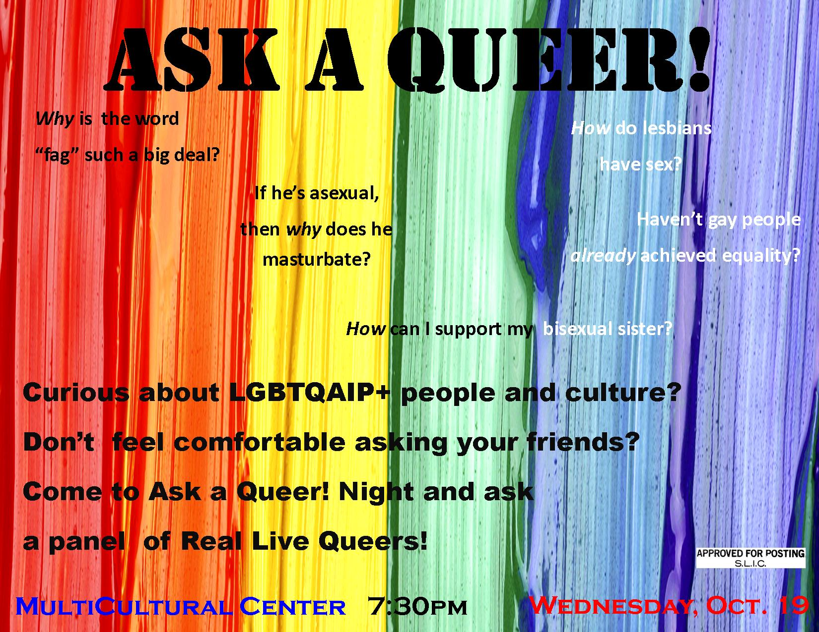 Ask a Queer, Learn about Sexuality
