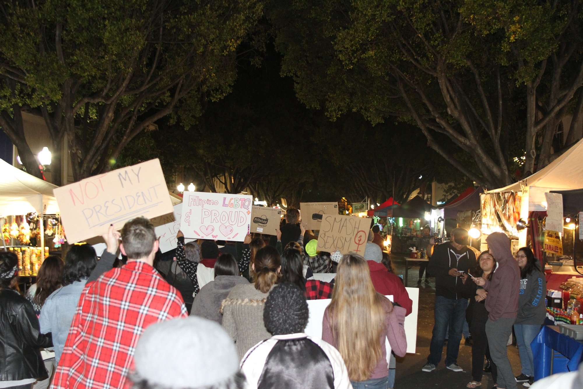 Bulldogs Against Hate March in Protest through Downtown Redlands