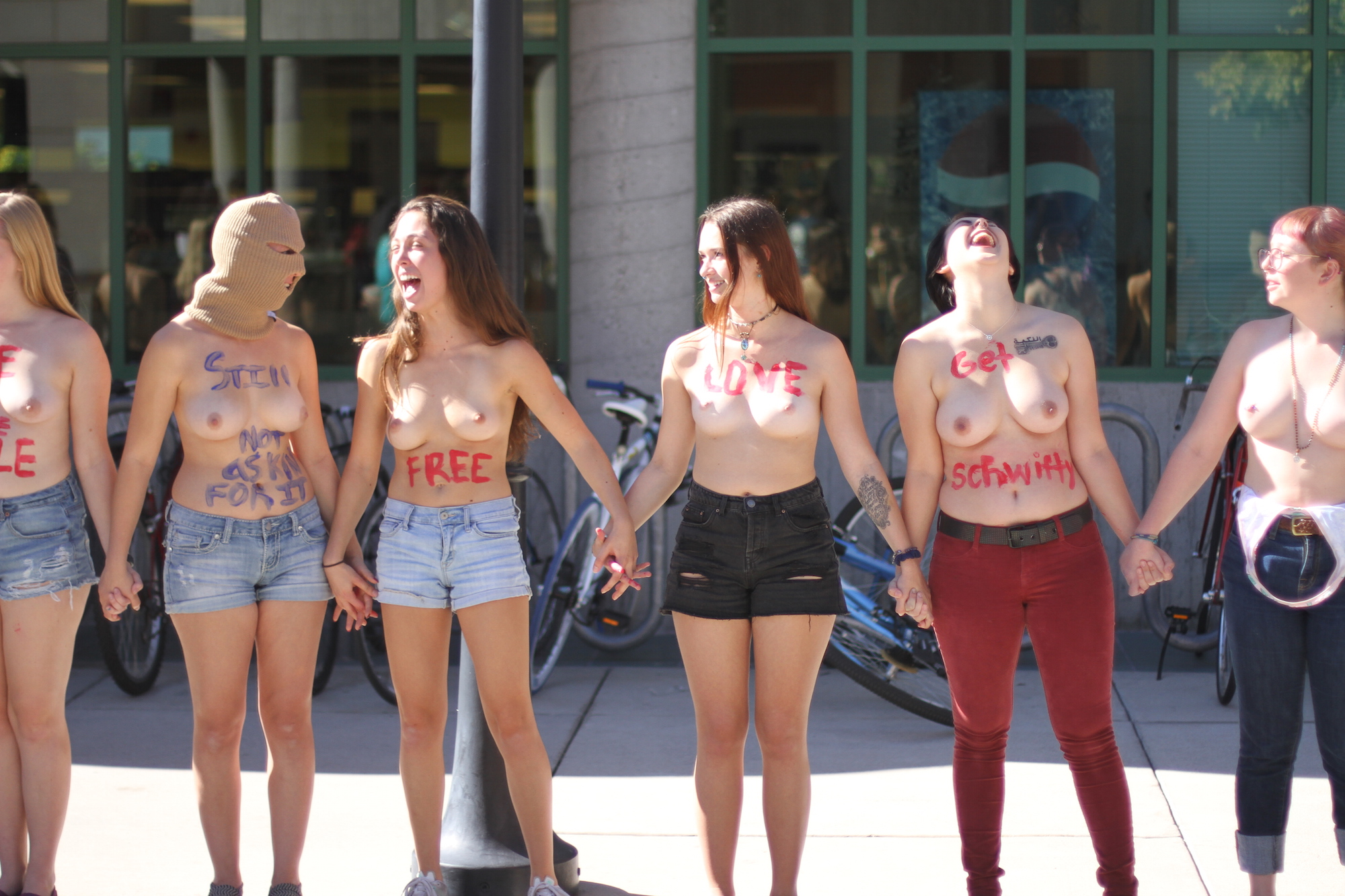Campus Activists Stage Second Free the Nipple Demonstration