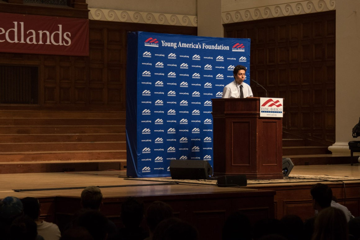 Head of Convocations and Lectures, Jacob Khuri, introduces Ben Shapiro.