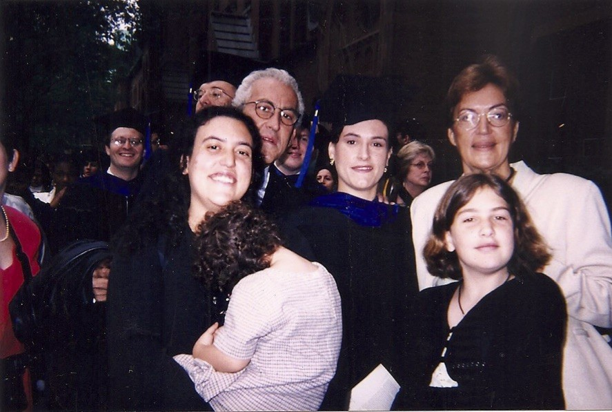 The Blanco family at oldest daughter's graduation