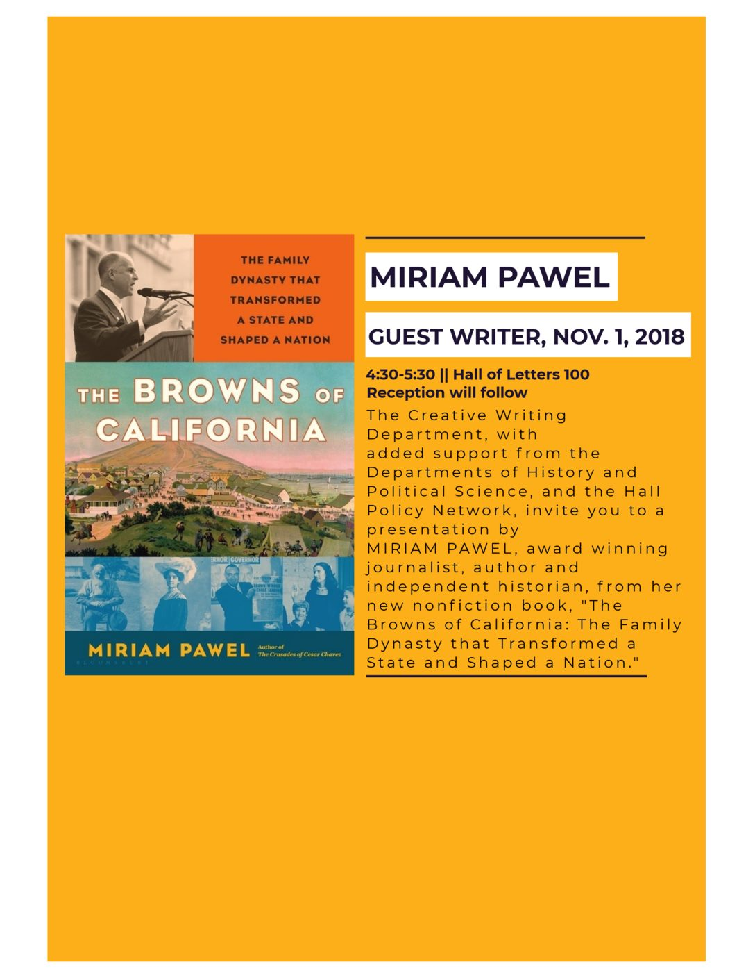 Miriam Pawel to Present from New Book, The Browns of California