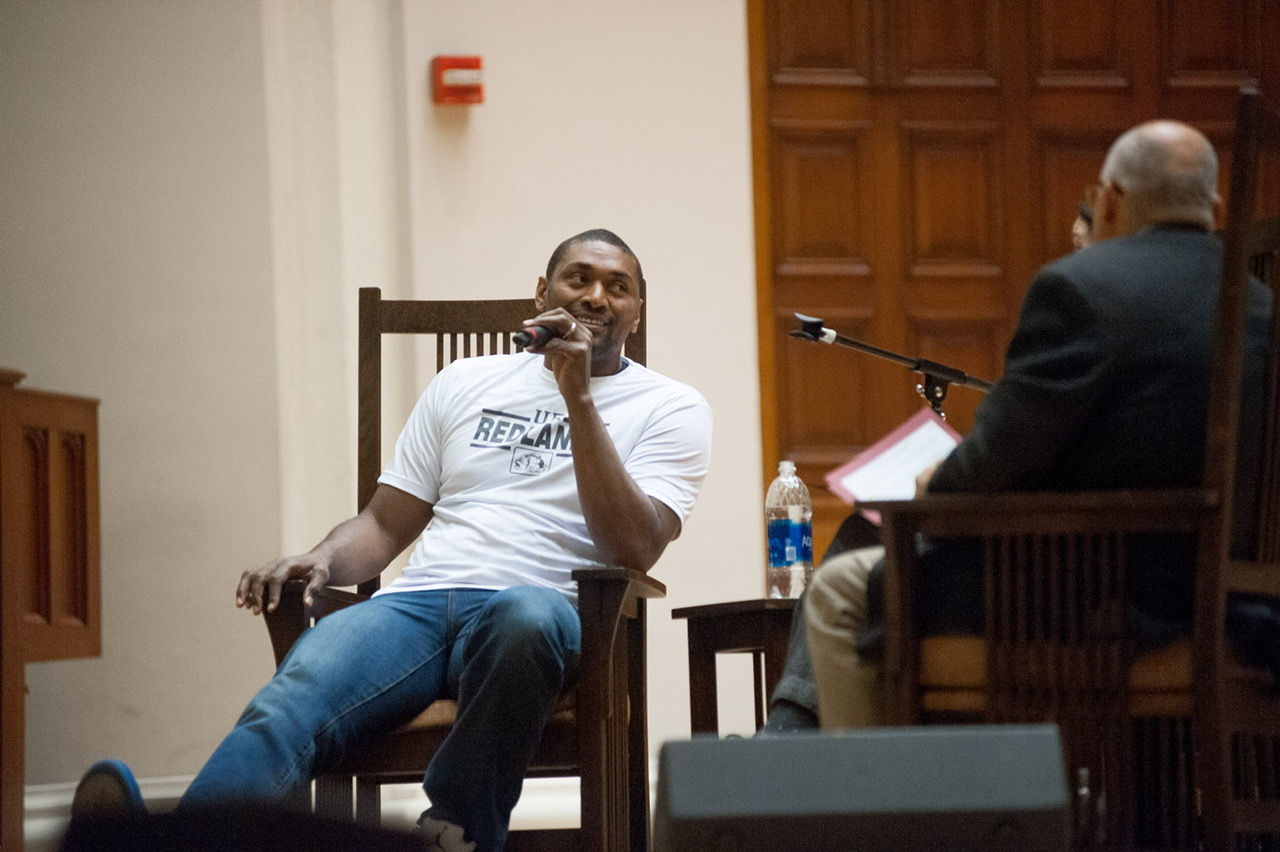 NBA CHAMPION METTA WORLD PEACE SITS DOWN WITH THE REDLANDS BULLDOG